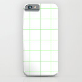 Graph Paper (Light Green & White Pattern) iPhone Case