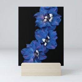 Purple Blue Delphinium Trio Mini Art Print