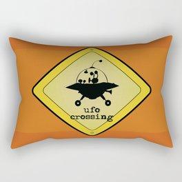 UFO crossing sign Rectangular Pillow