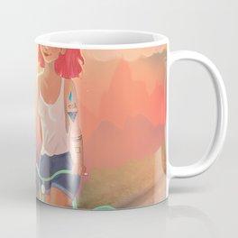 TATTOO GIRL IN BIKE Coffee Mug