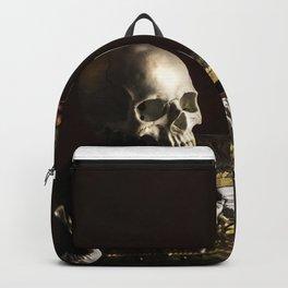 Vanitas, Memento Mori, Macabre Halloween Photo Backpack