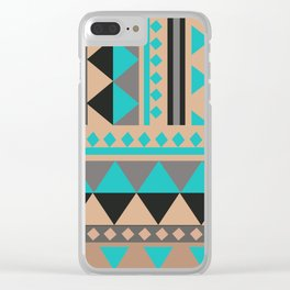 Aztec Pattern No. 28 Clear iPhone Case