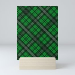 Scottish Plaid (Tartan) - Green Mini Art Print