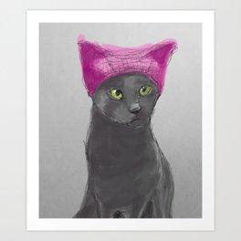Pussy Hat Art Print
