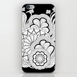 black&white zen composition 2 iPhone Skin