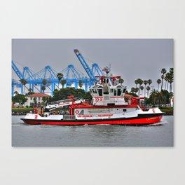 "Los Angeles Fire Boat ""San Pedro California  Canvas Print"