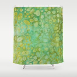 Green Batik 02 Shower Curtain