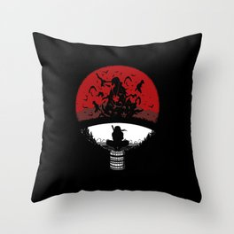 Uchiha Clan Silhouette Throw Pillow