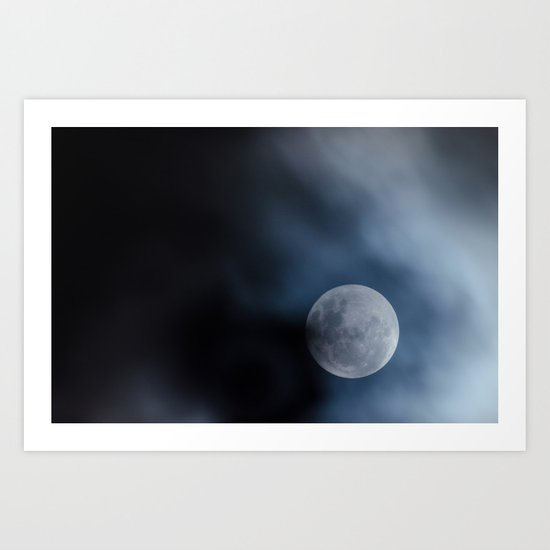 Moon blue 4 Art Print