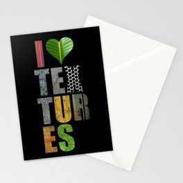 I Love Textures Stationery Cards