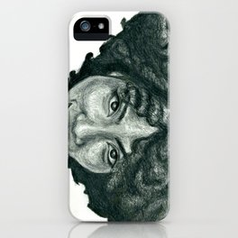 Natural Hair Portrait - African American Woman Afro iPhone Case