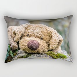 The lonely teddy Rectangular Pillow