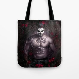 Blake Leaf trapped between darkness and light Tote Bag