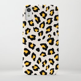 Leopard Print - Mustard Yellow iPhone Case