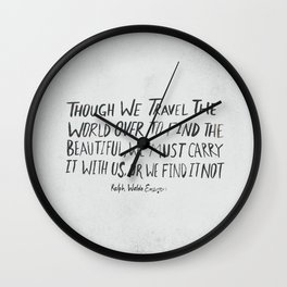 Ralph Waldo Emerson: Beautiful Wall Clock