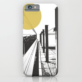 Le Corbusier with yellow sun iPhone Case