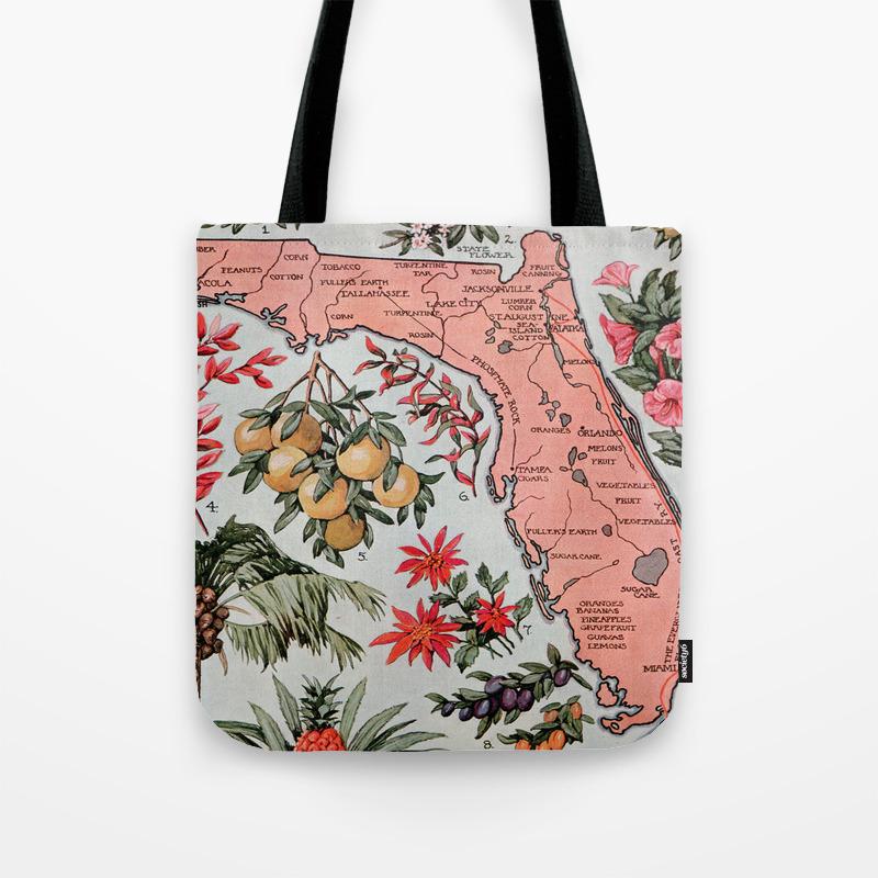 Vintage Map of Florida (1917) Tote Bag