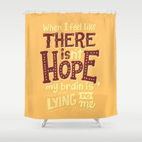 risa rodil Shower Curtains featuring There is hope by Risa Rodil