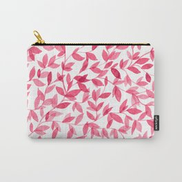 Red watercolor leaves design Carry-All Pouch