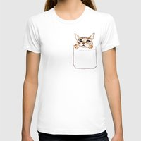 pocket fuel T-shirts featuring Pocket cat by Anna Shell
