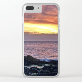 Seacape sunset Clear iPhone Case