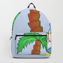 Unicorn Vacation (Blue) Backpack