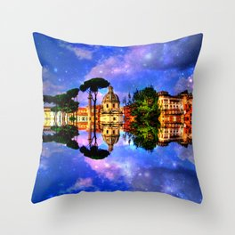space Rome Throw Pillow