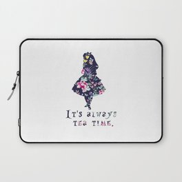 Alice floral designs - Always tea time Laptop Sleeve