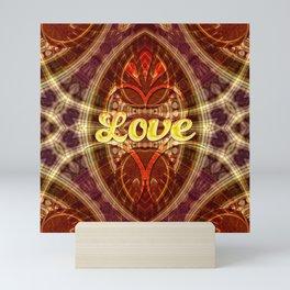 Tribal Geometry Love (earthy) Mini Art Print
