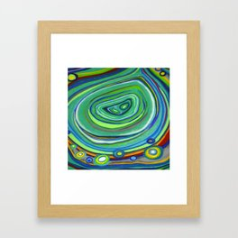 Vibrant Pastel on Suede Tree Ring Abstract by annmariescreations Framed Art Print
