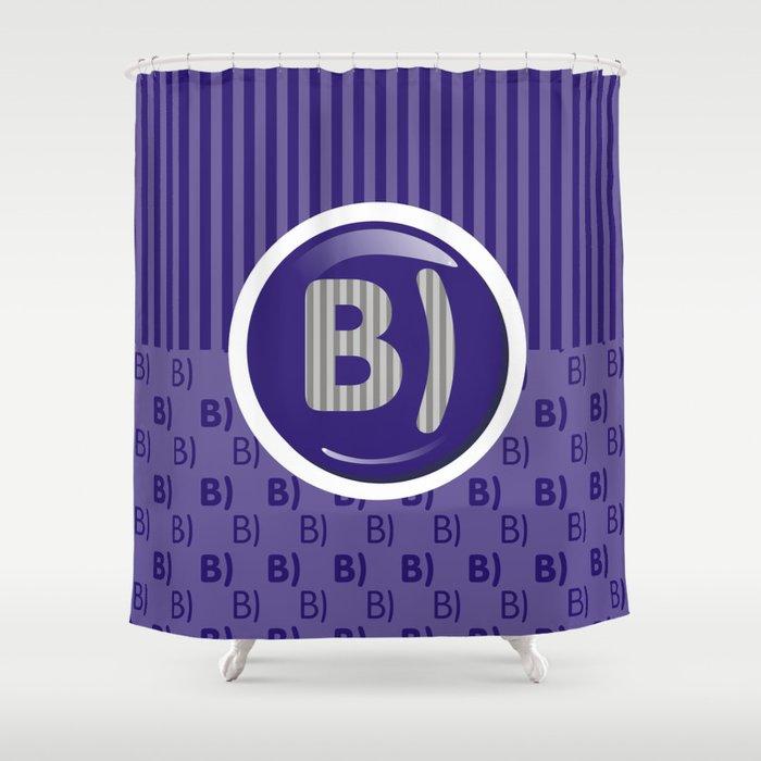Indigo Writer's Mood Shower Curtain