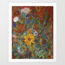 flower 2【Japanese painting】 Art Print