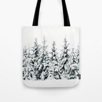 snow Tote Bags featuring Snow Porn by Tordis Kayma