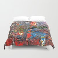 basquiat Duvet Covers featuring I Awoke Thinking Basquiat by Fernando Vieira