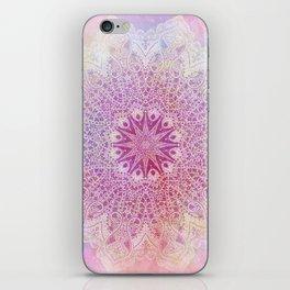 star mandala in pink mood iPhone Skin