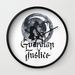 Guardian of Justice Wall Clock