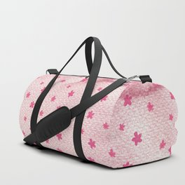 Blush pink hand painted watercolor vector floral illustration Duffle Bag