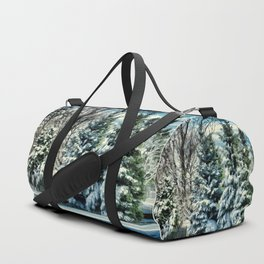Winter In New England Duffle Bag