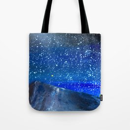 Moon Rising as an orange dot in the Great Sand Dunes National Park, USA travel Tote Bag