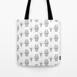 Geometrical black white diamond shapes pattern Tote Bag