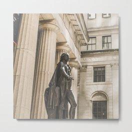Federal Hall, New York City photo, George Washington statue, NY, NYC photography Metal Print