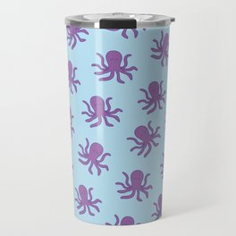 Friendly Octopus // Blue Pattern Travel Mug