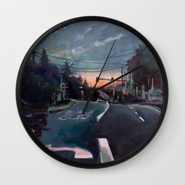Rainy Drive Wall Clock