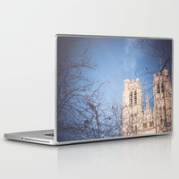 brussels Laptop & iPad Skins featuring Brussels Cathedral by Ghdv Grafias