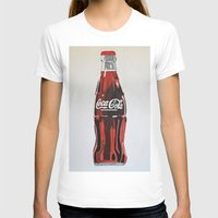 coca cola T-shirts featuring Coca-Cola by Marta Barguno Krieg
