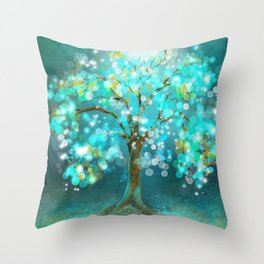 Tree of Light Throw Pillow