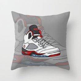 j5-fire reds Throw Pillow