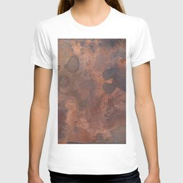 Tarnished, Stained and Scratched Copper Metal Texture Industrial Art T-shirt