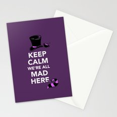 Keep Calm, We're All Mad Here Stationery Cards