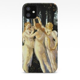 Sandro Botticelli Primavera The Three Graces iPhone Case